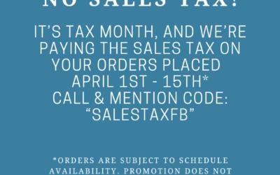 Silver Strike Concrete NO SALES TAX on Concrete Orders April 1st-15th